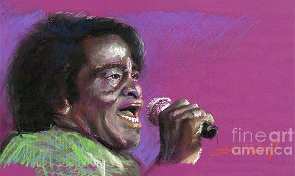 james brown pastel painting