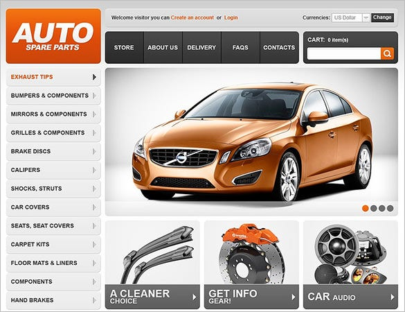 car auto parts virtuemart template