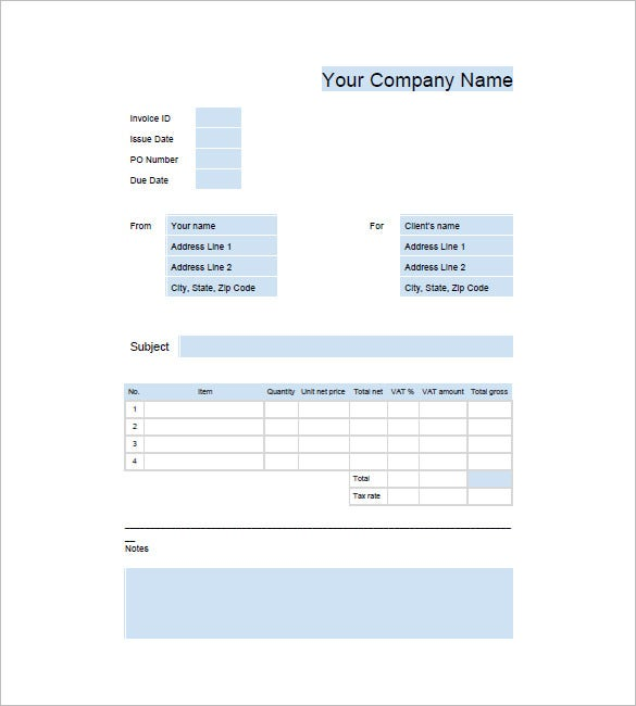 Google Business Invoice Template  Business Invoice Templates