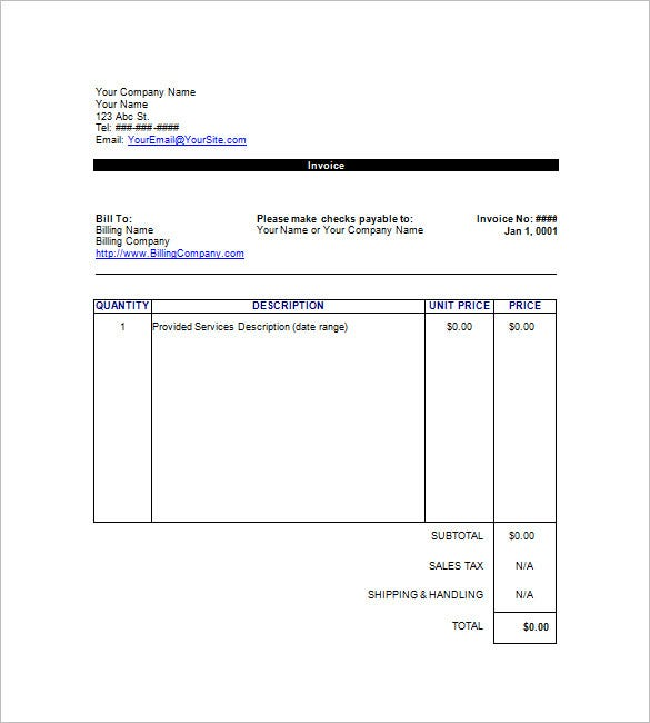 service invoice template google docs  Google Invoice Template - 25  Free Word, Excel, PDF Format | Free ...