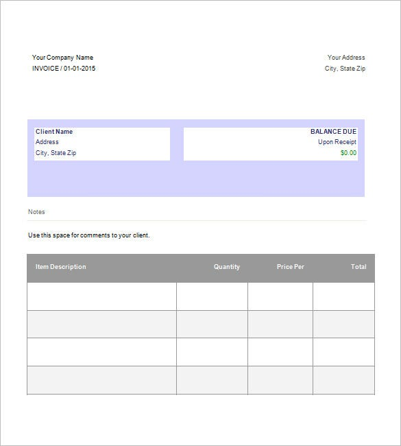 google invoice template free download - Invoice Template Free