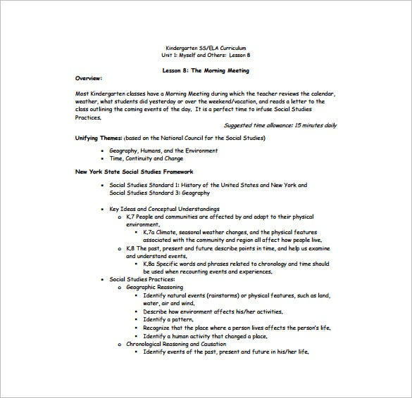 Lesson Plan Outline