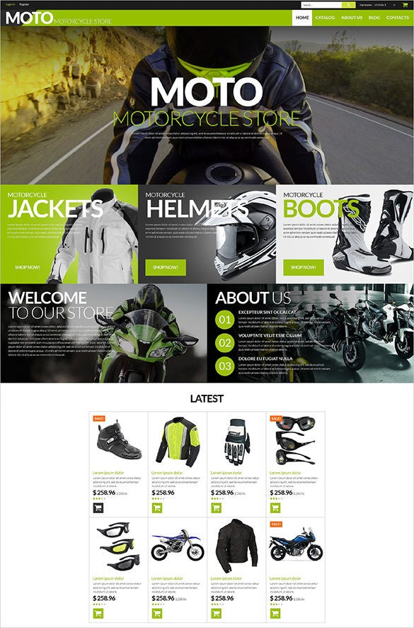 moto bike shop virtuemart theme