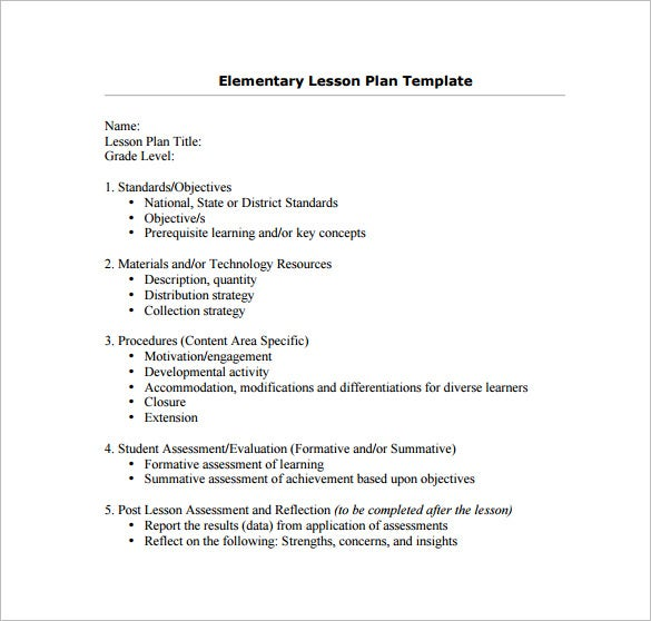 Teacher Lesson Plan Template – 9+ Free Sample, Example, Format