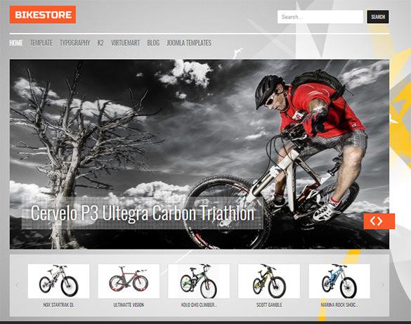 fantastic bikes store virtuemart template
