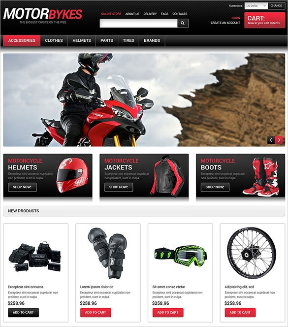 motor bikes shop virtuemart theme