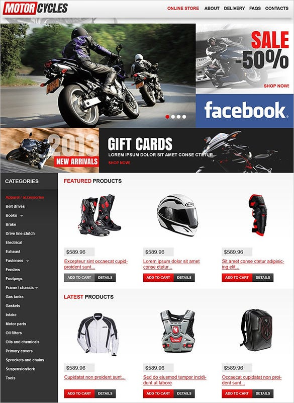 simple bikes shop virtuemart theme