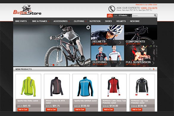 bicycle store virtuemart theme
