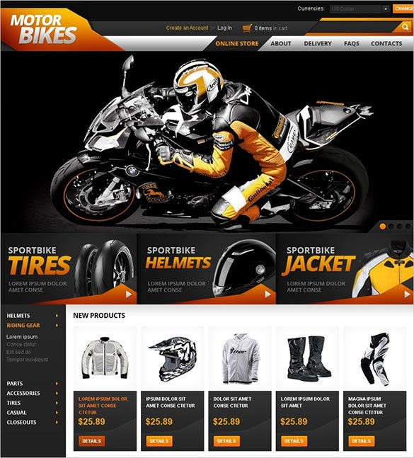 perfect bikes shop virtuemart template