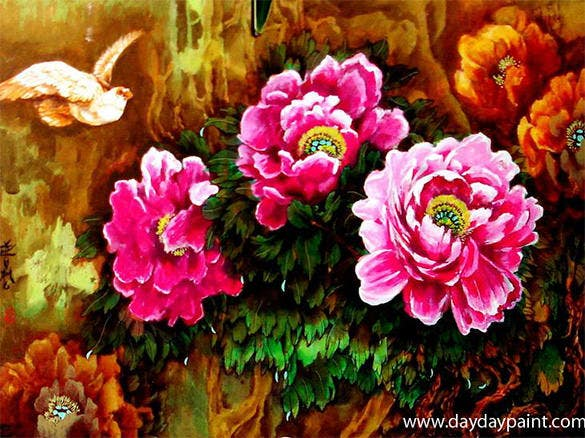 excellent flower painting