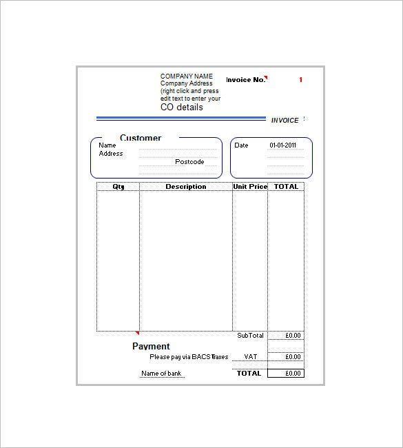 Invoice Template With Value Added Tax – 8+ Free Word, Excel, Pdf