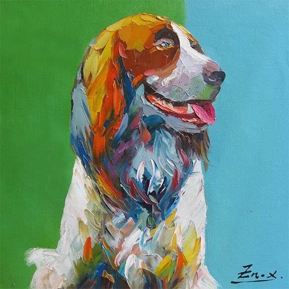 amazing pet portrait painting