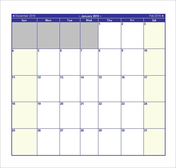 Blank Schedule Template – 13+ Free Word, Excel, PDF Format Download ...