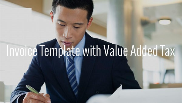 invoice template with value added tax
