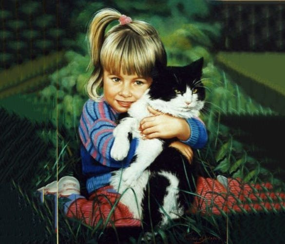 hand painted portrait of pet