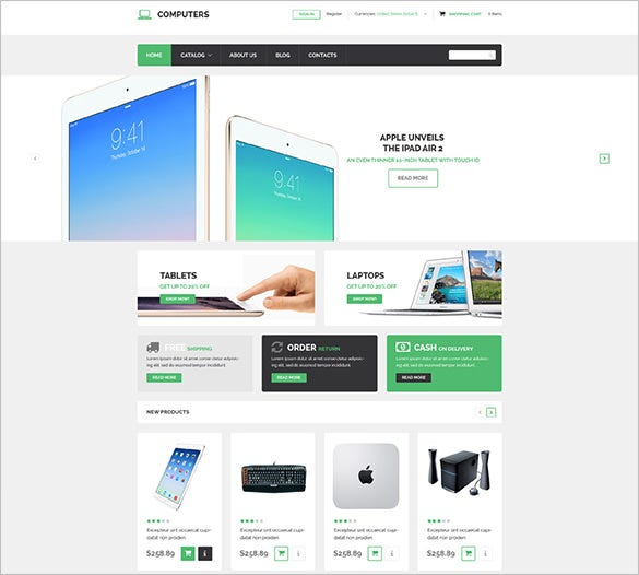 computer technology store virtuemart template