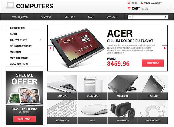 computer online store virtuemart theme