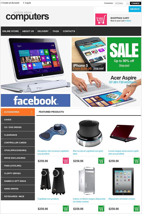 online computer store virtuemart theme