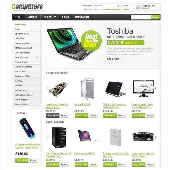 computer store virtuemart template