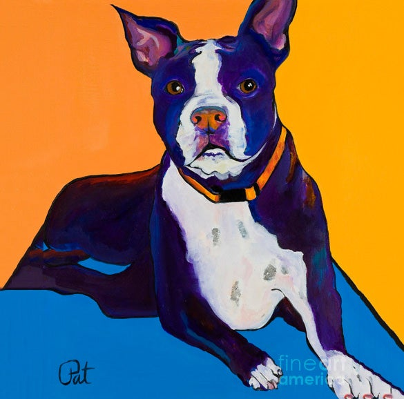 georgie the pet portrait painting