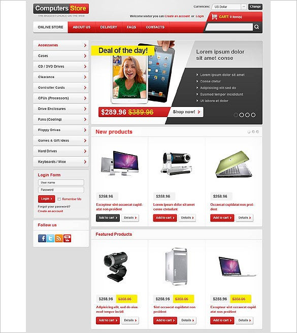 computer shop virtuemart theme