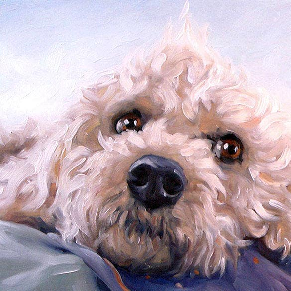 beautiful pet portrait paintings