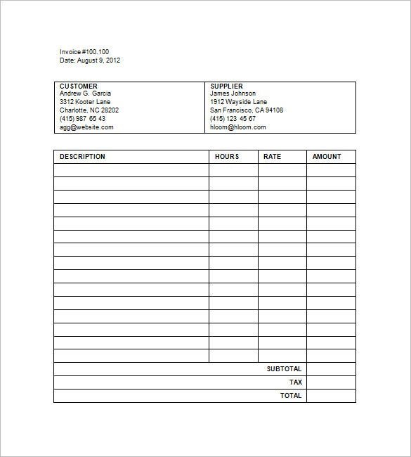Legal Invoice Templates   Free Word Excel Pdf Format Download