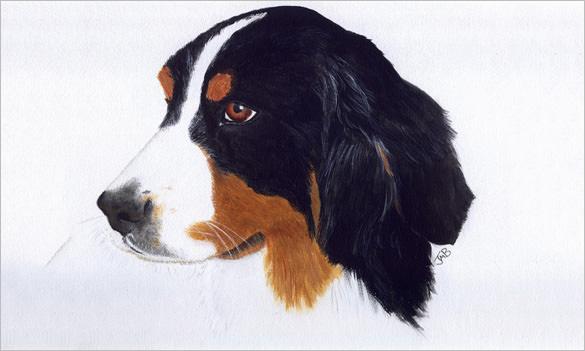 extravagant pet portrait painting
