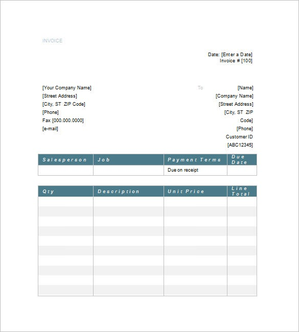 excel legal invoice template  10  Legal Invoice Templates - DOC, PDF | Free