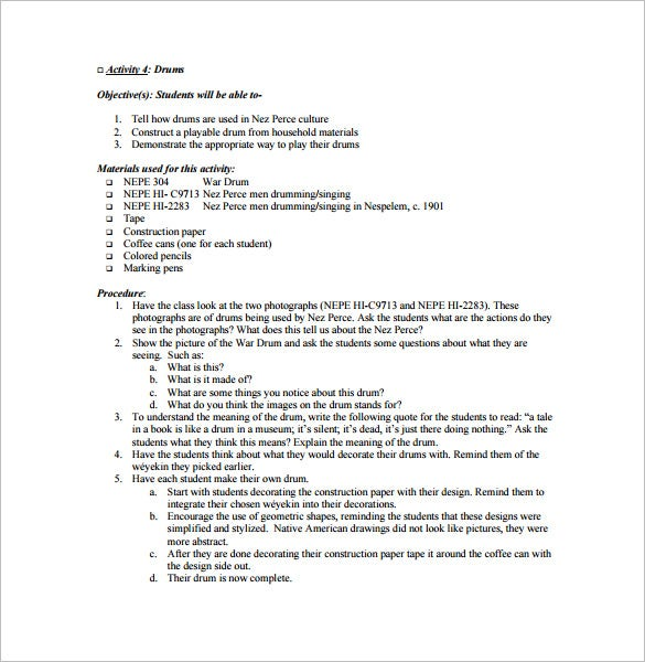 music teacher lesson plan free pdf template
