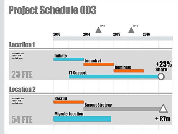 Powerpoint Schedule Template 8 Free Word Excel Ppt