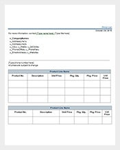 price-list-template-word