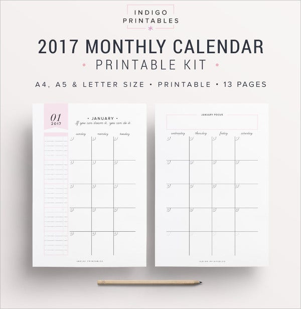 free downloadable 2018 calendar templates