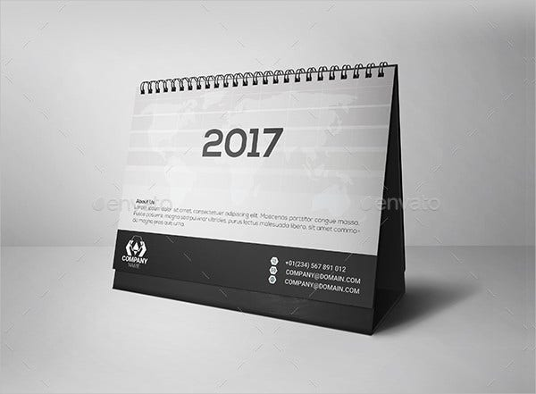 simple-desk-calendar-2017