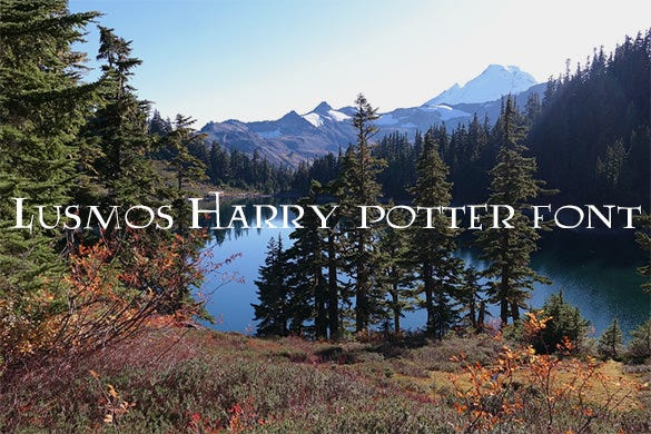 lumos harry potter font