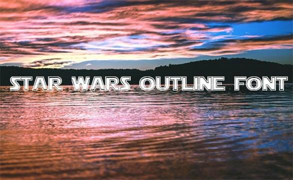 star wars outline font
