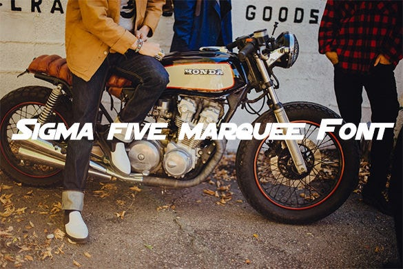 sigma five marquee font