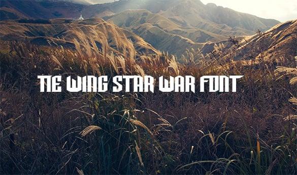 tie wing star wars font