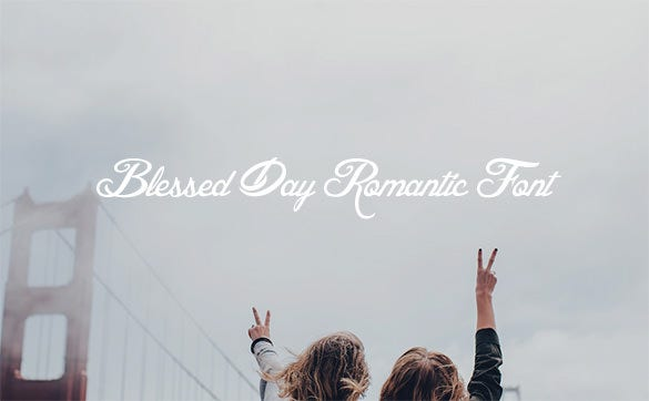 blessed day romantic font download