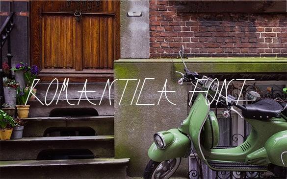 romantica font free download