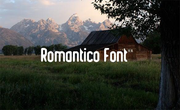 romantico font free download