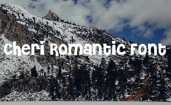 cheri romantic font download