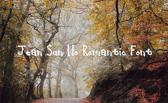 jeansunho romantic font