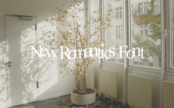 new romantics font free download