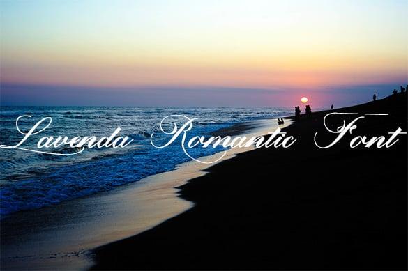 lavenda romantic font downlaod
