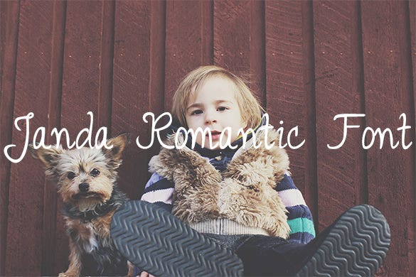 janda romantic font for free