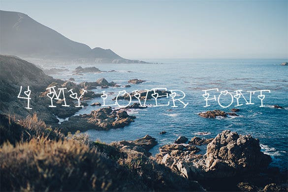 4 my lover romantic font download