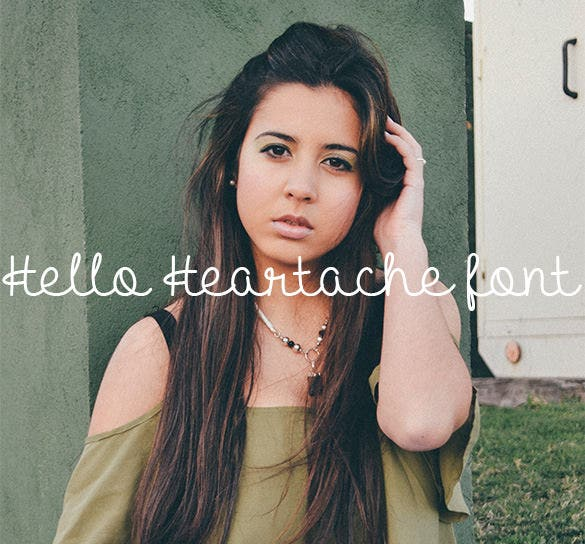 hello heartache romantic font