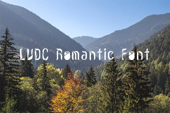 lvdc romantic font for you
