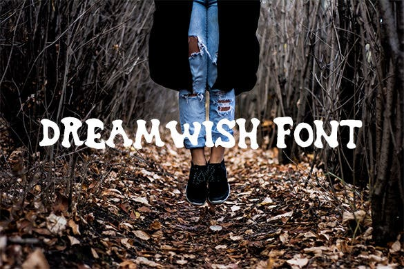 dreamwish romantic font download